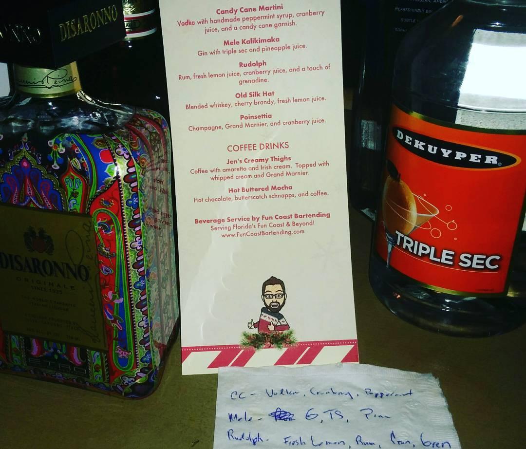 Bartender Cheat Sheet #funcoastbartending #tikitender